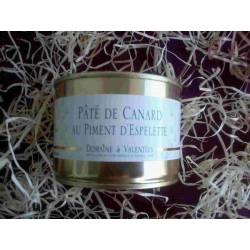 Pâté de canard au piment d'Espelette 250 g              (Franco de port dès 30€ d'achat)