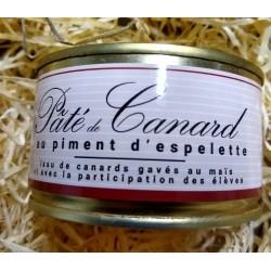 Pâté de canard au piment d'Espelette                           (Franco de port dès 30€ d'achat)